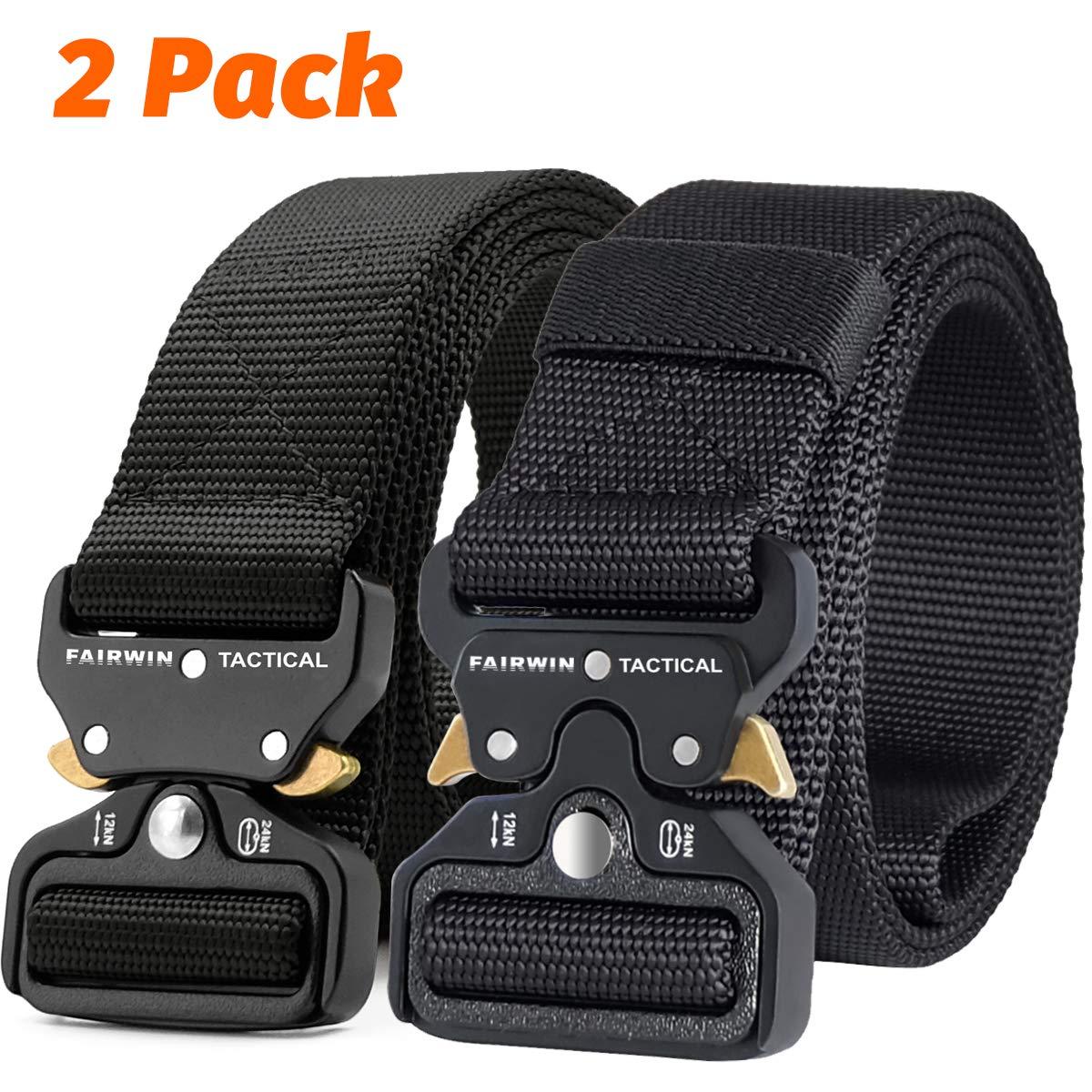 Fairwin Tactical Belt, 2 PCS 1.5 Inch Military