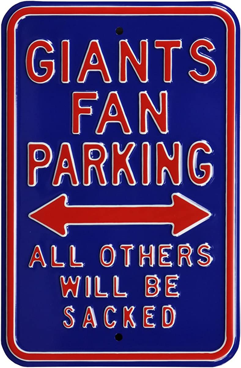 Authentic Street Signs NFL Fanshop Parking Sign
