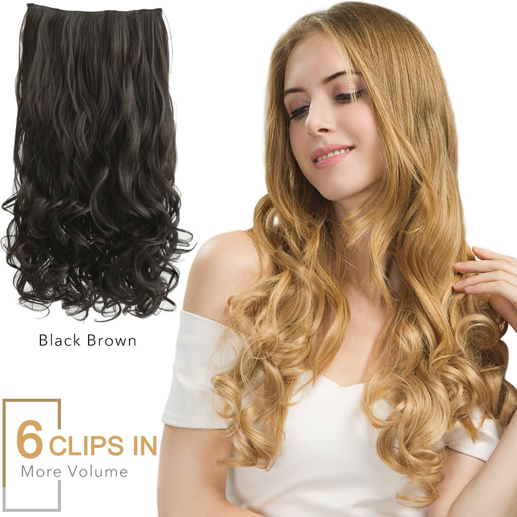 Amazon Reecho Hair Extensions 6 Clips In On 20 Thick Volume