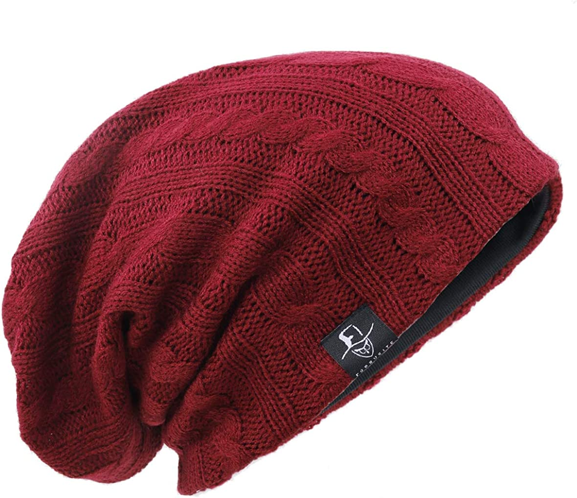 Oversized Baggy Skull Cap Winter Warm Ski Hat B305 Ruphedy Mens Slouch Knit Beanie