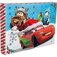 Sambro DSC9-6797 Adventskalender Disney Pixar Cars mit Schreibwaren, Stempeln und Stickern, für Kinder ab 3 Jahre, bunt