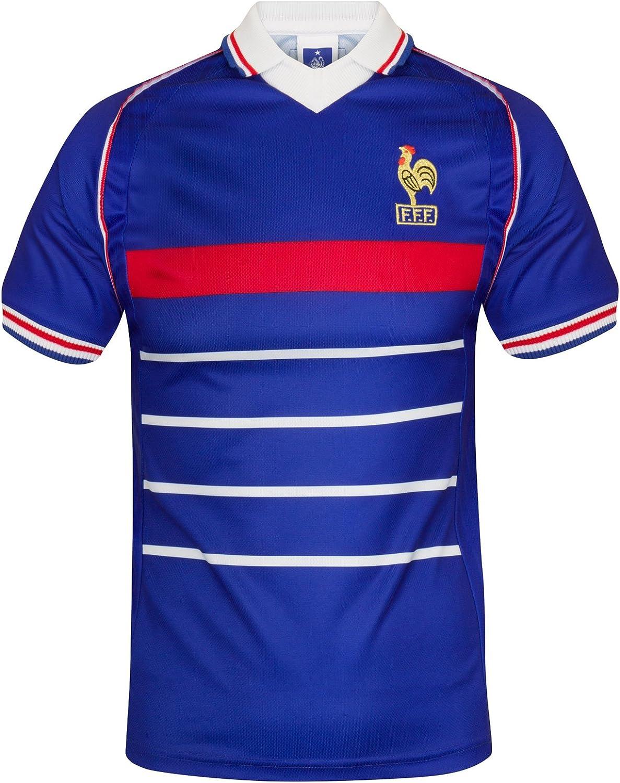 Francia - Camiseta de ganadores del Mundial 1998 - para Hombre - Producto Oficial Retro - XXL: Amazon.es: Ropa y accesorios