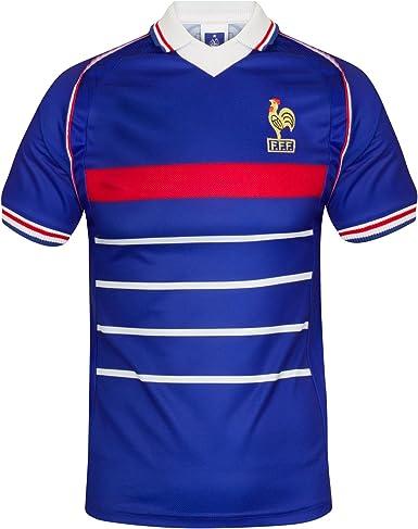 Scoredraw - Camiseta de fútbol, diseño de la selección Francesa para el Mundial de 1998: Amazon.es: Ropa y accesorios