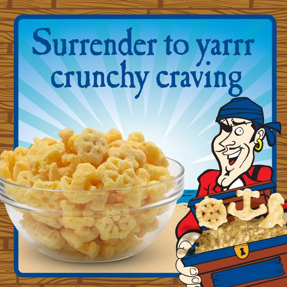 Pirate's Booty Crunchy Treasures, Aged White Cheddar, 4 oz. (Pack of 12) by Pirate Brands (Image #3)