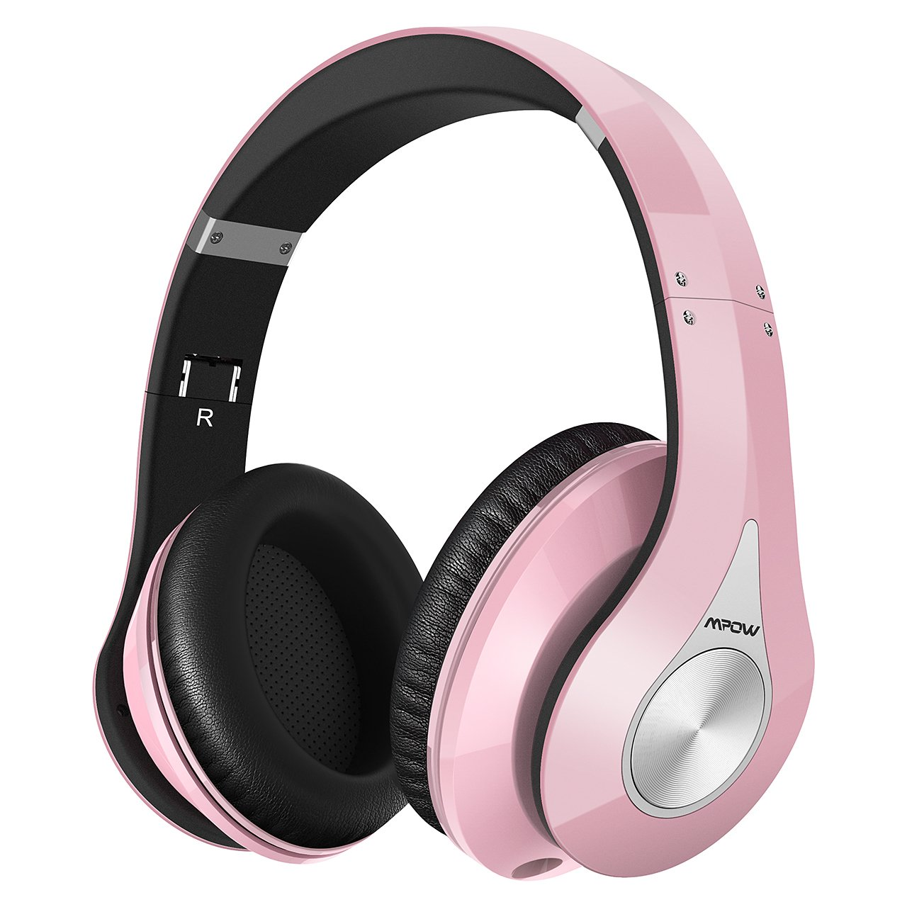 Mpow 059 Bluetooth Headphones Over Ear  Hi-Fi Stereo Wireless Headset  Foldable  Soft Memory-Protein Earmuffs  w Built-in Mic Wired Mode PC Cell Phones TV