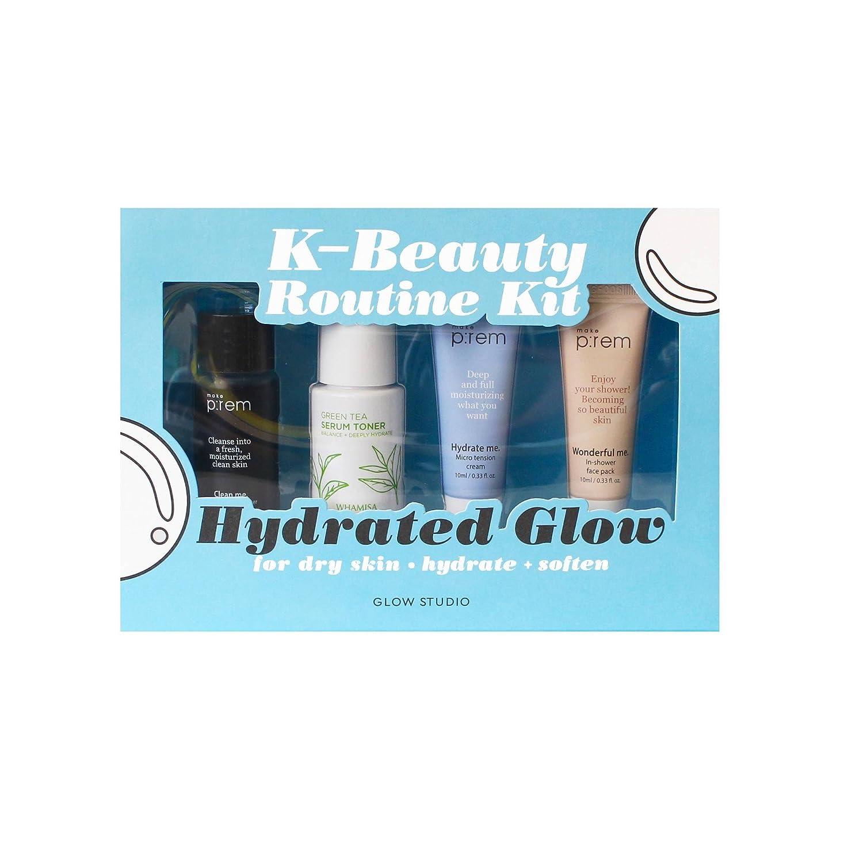 Amazon.com : Glow Studio Hydrated Glow K-Beauty Routine Kit 5.1oz ...