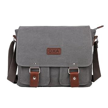 bc9cd8a8111 OXA Vintage Canvas Messenger Bag Shoulder Bag ipad Bag Book Bag Satchel School  Bag Crossbody Bag