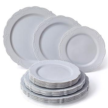 VAJILLA PARA FIESTAS DESECHABLE DE 30 PIEZAS | 10 platos grandes | 10 platos para ensalada