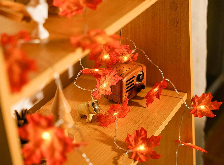 d/écoration de pique-nique Guirlande dautomne de MUSCCCM String Light Feuilles dautomne de guirlande dautomne pour lautomne le jour de Thanksgiving No/ël jardin
