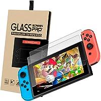 OMORC Nintendo Switch Protector de Pantalla Cristal Vidrio Templado Premium Protector de película Protector de Pantalla para Nintendo Switch, 2 Unidades (2pack)