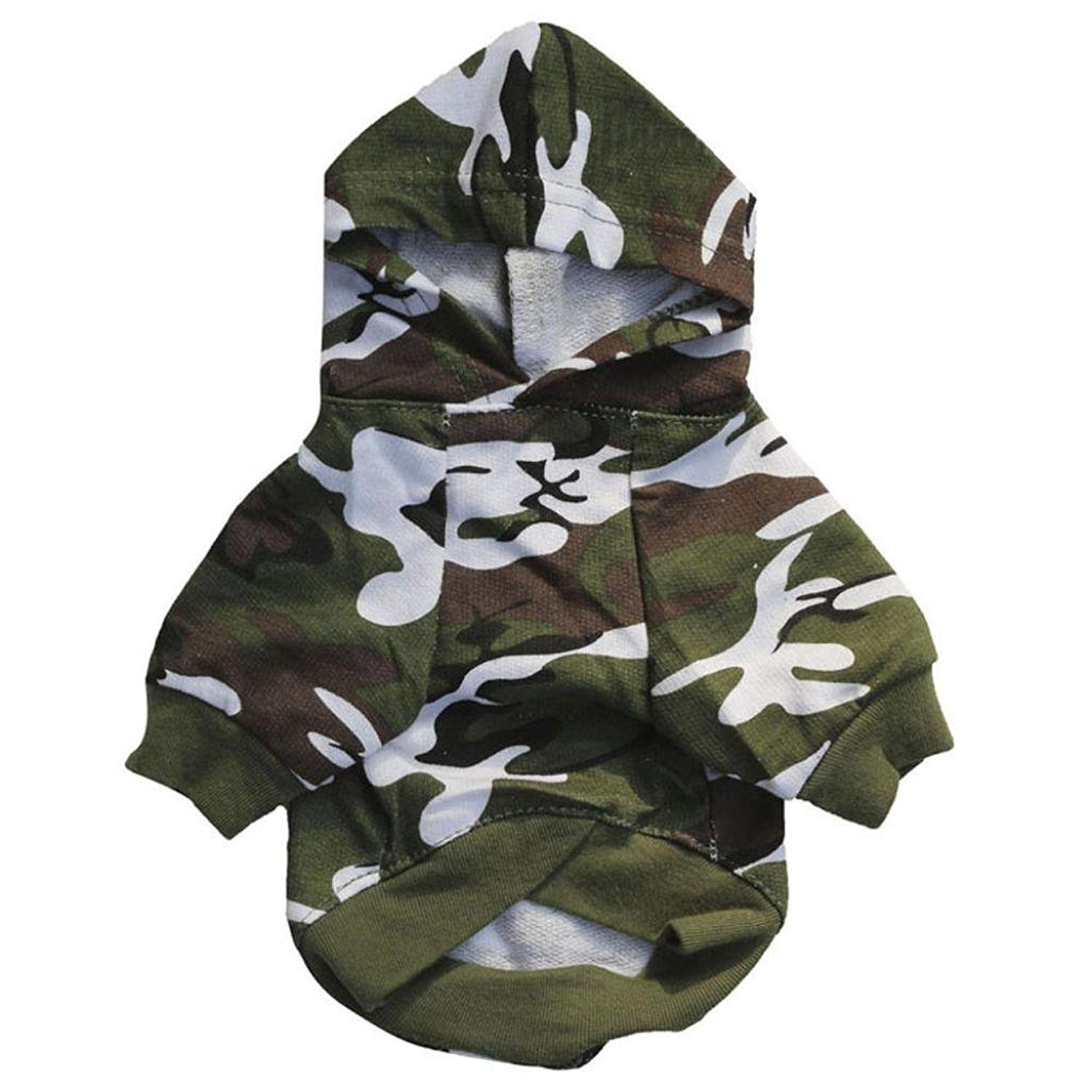 GONKOMA Puppy Pet Dog Clothes Sweatshirts Camo Hoodie T-Shirt Coat For Small Dog Puppy (M, Camouflage)