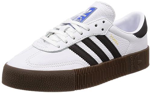 Adidas Sambarose W, Zapatillas de Deporte para Mujer, Blanco (Ftwbla/Negbás/Gum5 000), 37 1/3 EU: Amazon.es: Zapatos y complementos
