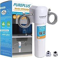 PUREPLUS Sistema de filtro de agua debajo del fregadero, conexión directa al grifo de cocina, 20 K galones de alta…