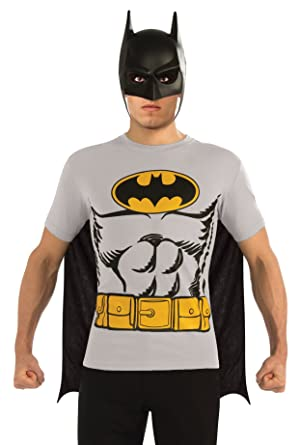 9dfae2548 Amazon.com: Rubie's DC Comics Batman T-Shirt With Cape And Mask ...