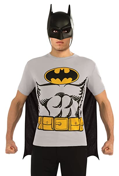 5a631e0e17f Amazon.com  Rubie s DC Comics Batman T-Shirt With Cape And Mask ...