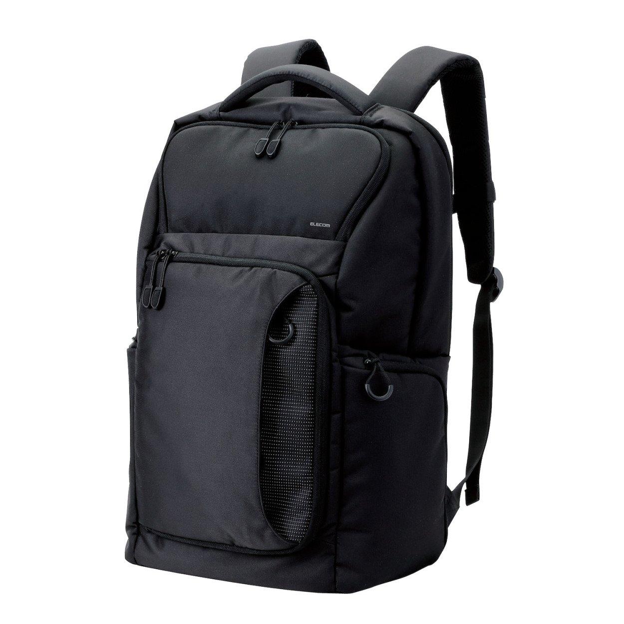 エレコム バックパック 超軽量 豊富 小物ポケット付 ブラック BM-BP01BK B013S2YARK スタンダード|ブラック スタンダード