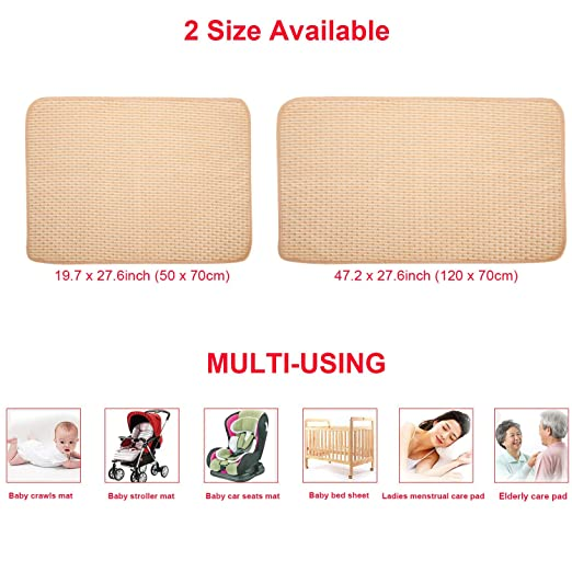"""Travel,Premium Liners Size 27.5/""""x20/"""" Aidle Waterproof Baby Diaper Changing Pad Multi Function Diaper Mat 4 Protective Layers 100/% Leak Proof Sanitary Mats for Home and Outdoor 1 Pack"""