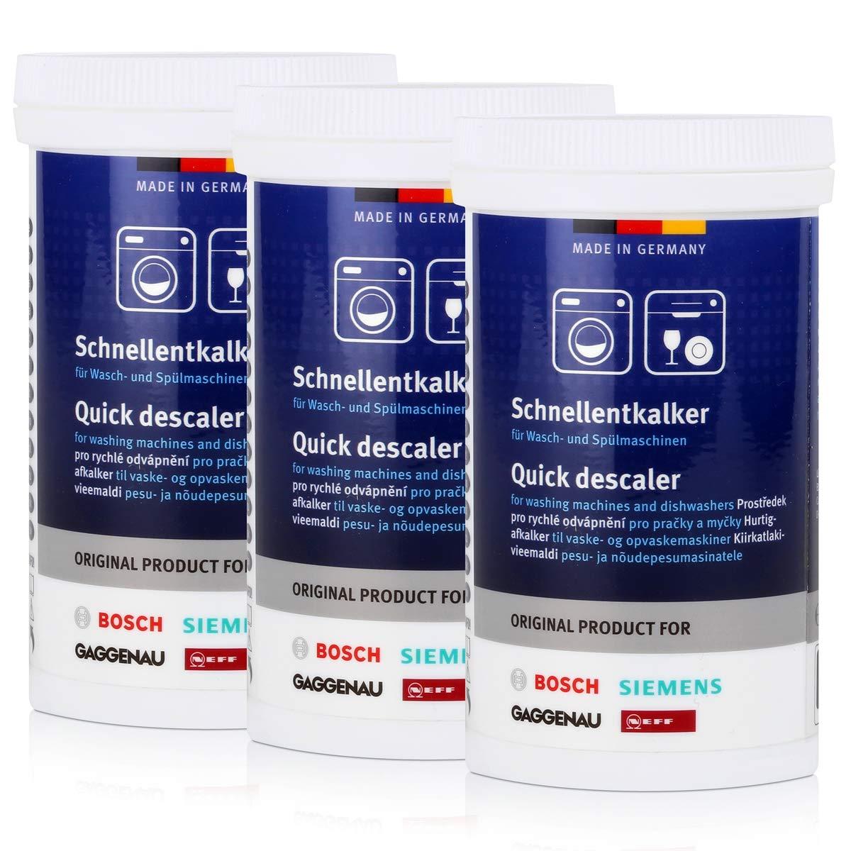 BSH Descalcificador para lavadora y lavavajillas, 3 unidades de ...
