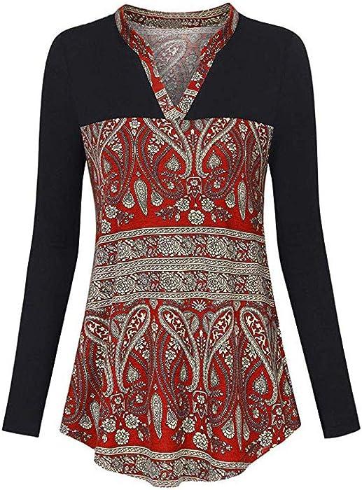 ba5889a2b AOJIAN Blouse Women Long Sleeve T Shirt V Neck Slim Folk Custom Tunic Tank Shirts  Tops