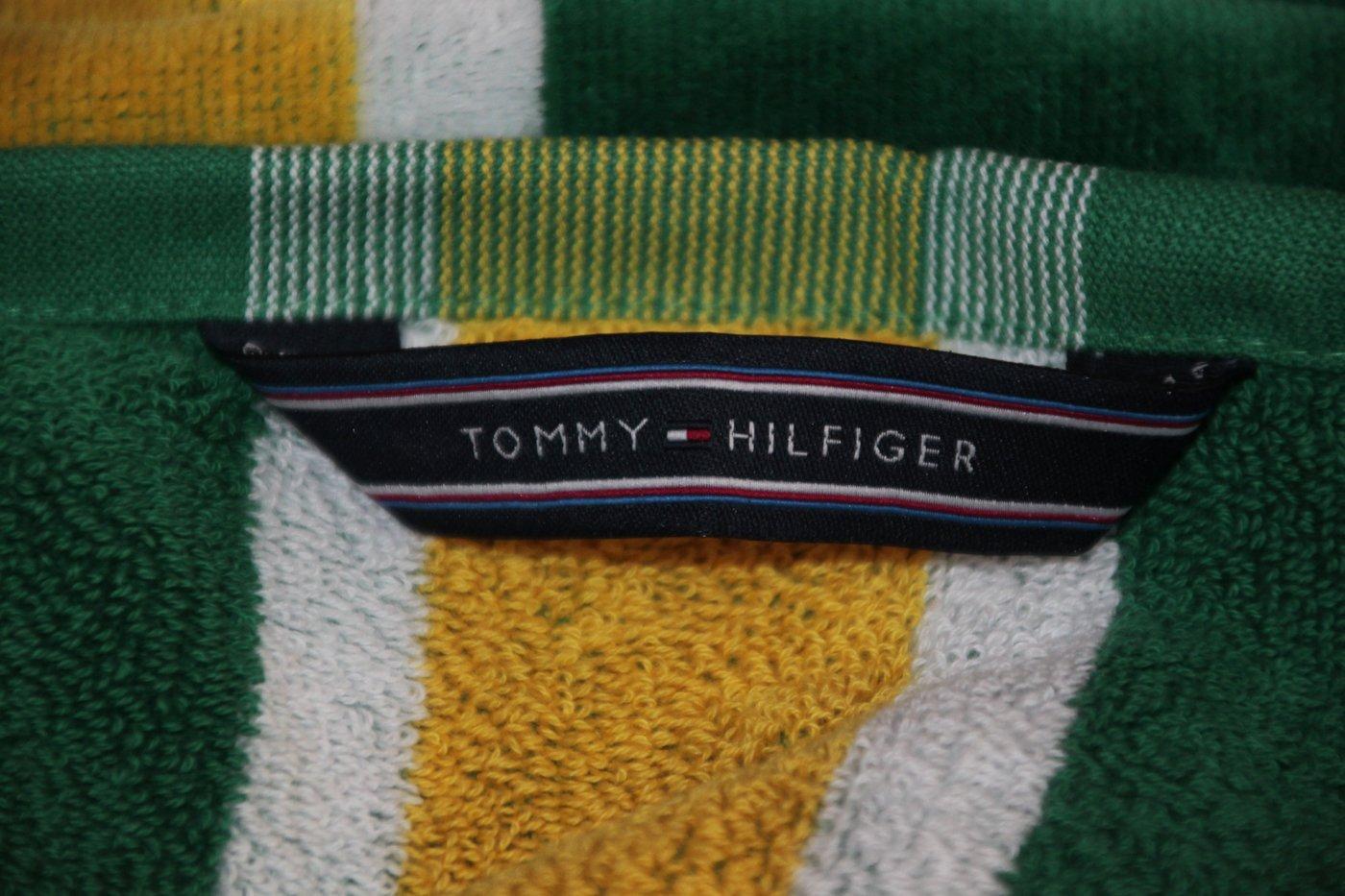 Toalla Playa o Piscina Tommy Hilfiger 100% Esponja disponible de puro algodón cm 90 x 180 Track - Verde: Amazon.es: Hogar