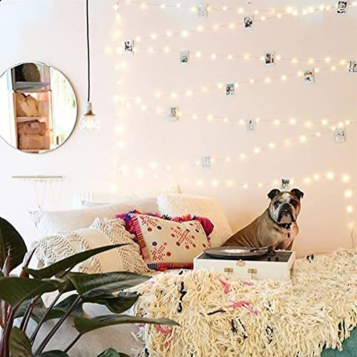 12APM 66 ft 200LEDs Waterproof Starry Fairy String Lights, with Remote Dimmable Timer, Silver Copper Wire for Bedroom Indoor Patio Ambiance Lighting Decor, USB Powered Silver, warmwhite-66ft