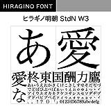 OpenType ヒラギノ明朝 StdN W3 [ダウンロード]