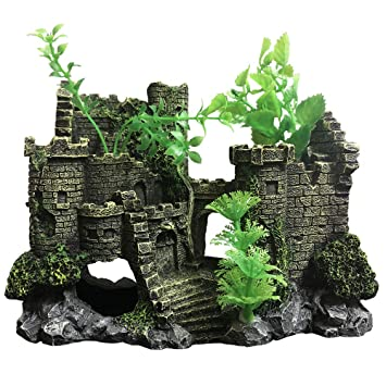 SLOME Castillo de Resina Medieval para decoración de Acuario ...