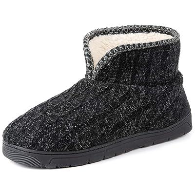 RockDove Men's Sweater Knit Bootie Slipper with Memory Foam   Slippers