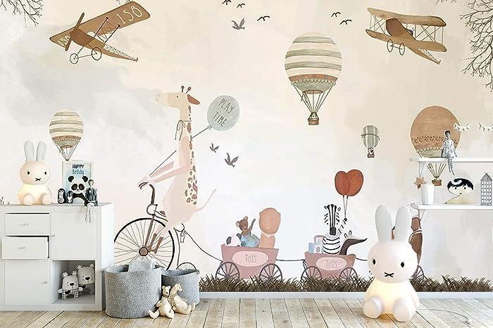 amazon com vintage hot air balloons, animals and aircraft wall
