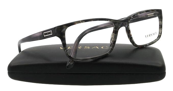 508dafcf6e Amazon.com  VERSACE VE 3154 Eyeglasses 939 Striped Gray Demo Lens 54 ...
