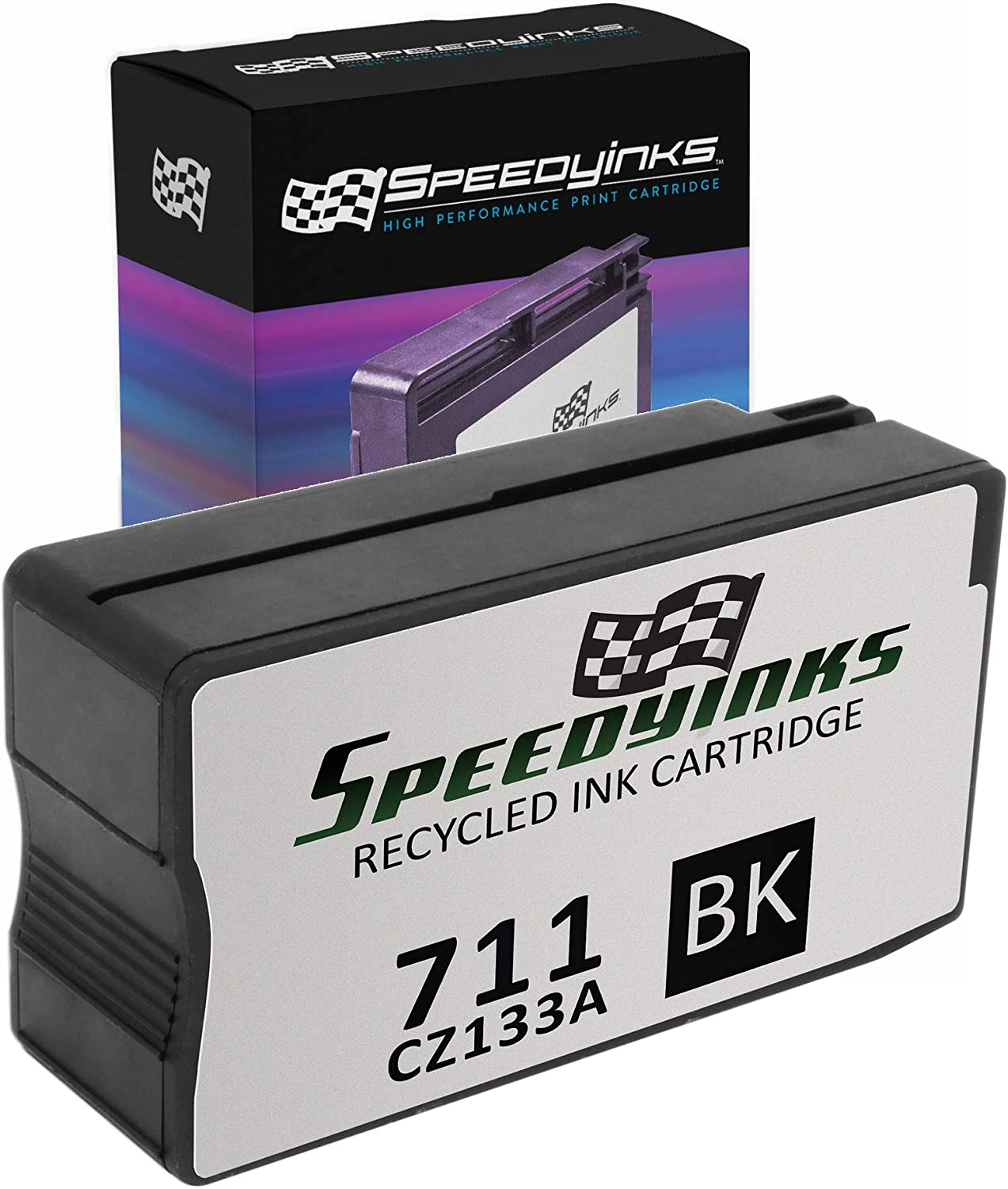 Speedy Inks Remanufactured Ink Cartridge Replacement for HP 711 High-Yield (Black)