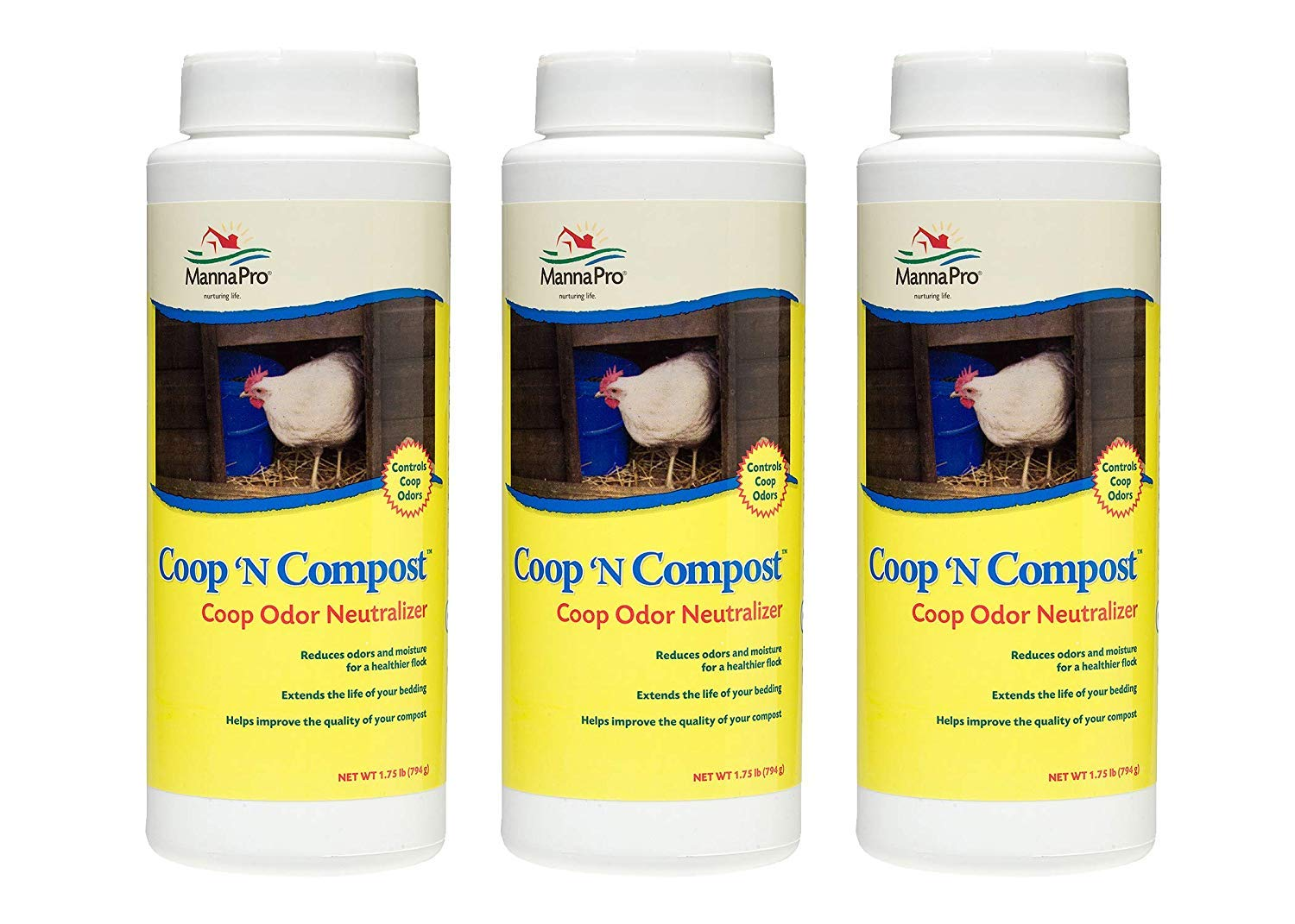 Manna Pro Coop 'N Compost Odor Neutralizer (Pack of 3) by Manna Pro