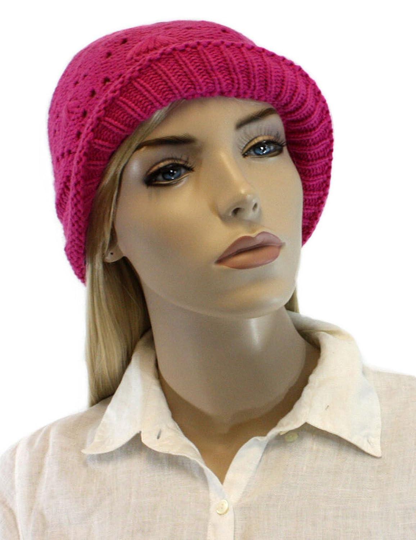 Women's Light Raspberry Cotton Knitted Beanie for Women