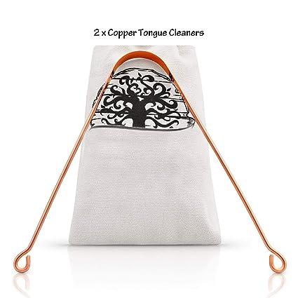 Raspador de lengua de cobre de alta calidad - Cobre: Amazon ...