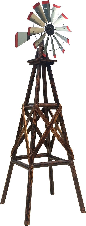 Leigh Country TX 93485 9′ Char-Log Windmill