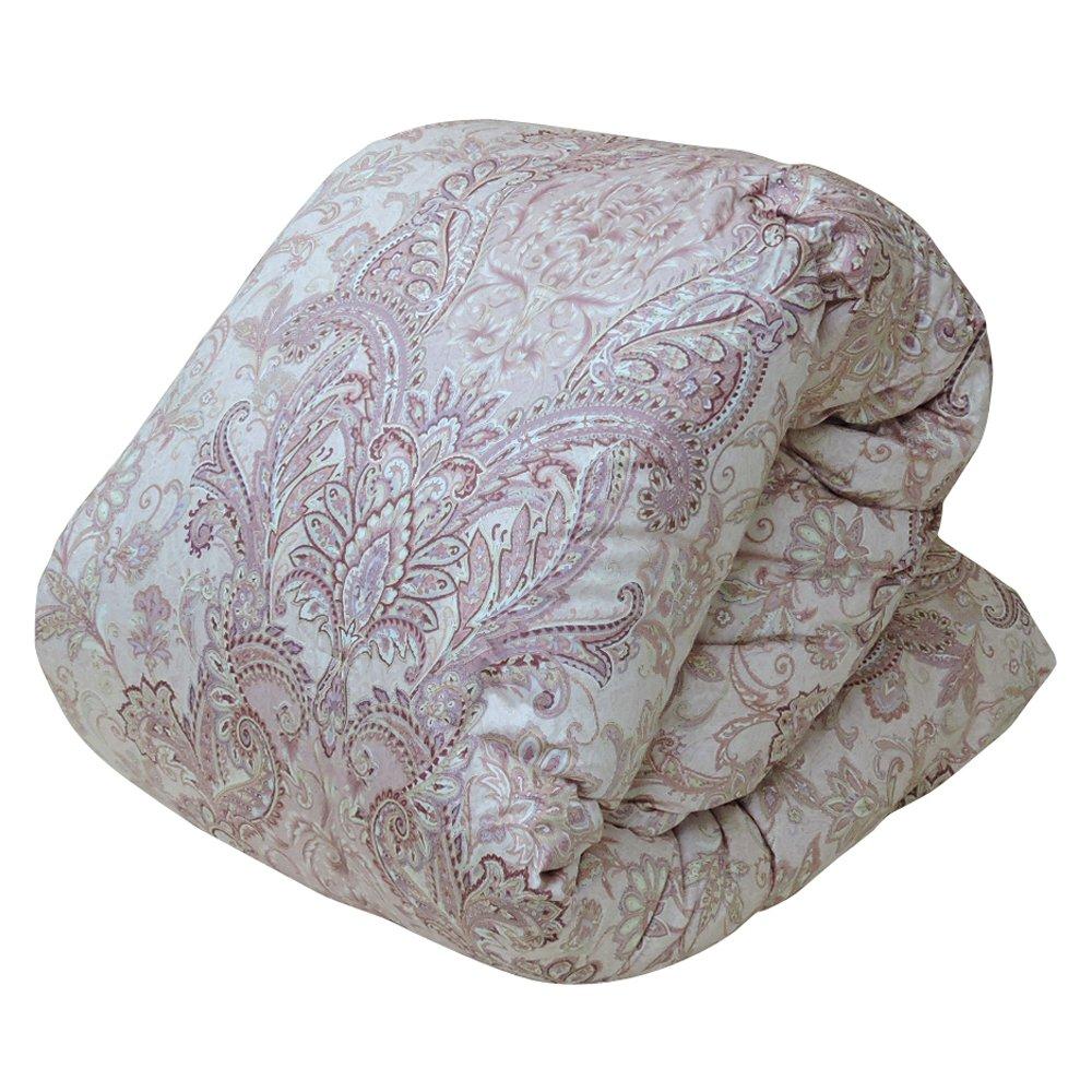 眠り姫 日本製 羽毛布団 ホワイトマザーダックダウン 93% シングルロング シェリー ピンク 150×210cm 60サテン 超長綿 400dp かさ高165mm以上 B076N2B58D シングルロング|ピンク ピンク シングルロング
