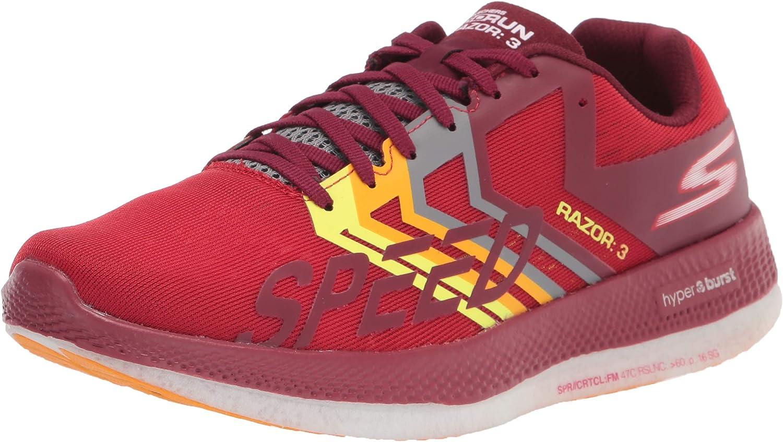 pastel probabilidad alfiler  Skechers Men's Go Run Razor 3 Sneaker | Fashion Sneakers - Amazon.com