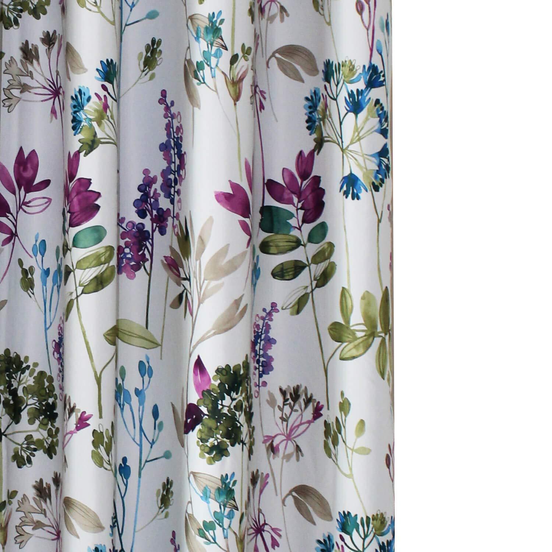 "Anady Top Purple/Blue Leaf Curtains Blackout Flower Bedroom Drapes Grommet Top 42"" 96"" Long"