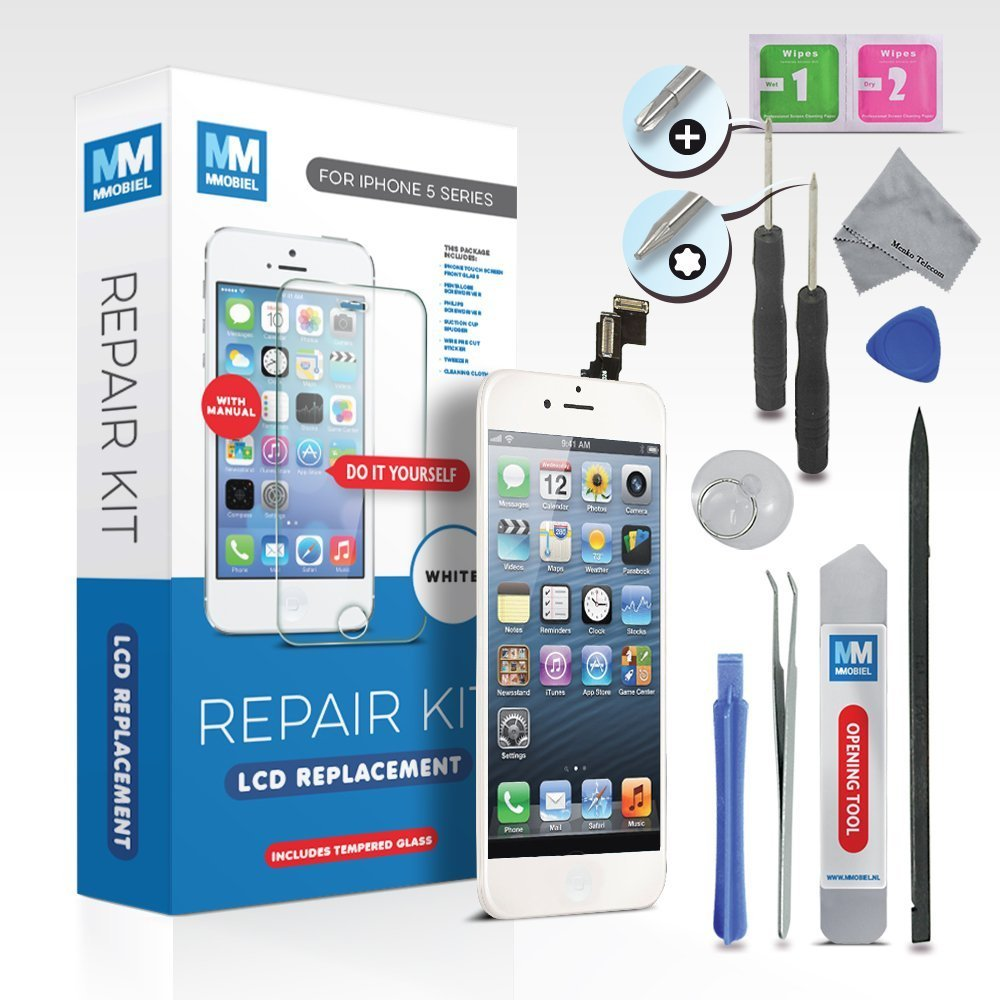 White Tools and Easy Manual incl MMOBIEL LCD Display Touchscreen ...