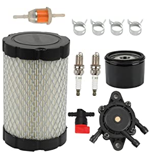 Butom MIU14395 Air Filter with Fuel Pump Fuel Filter for John Deere D100 D105 D110 D130 D140 D160 D170 D125 L105 L107 LA135 Lawn Mower Tractor Briggs & Stratton 796031 591334 594201