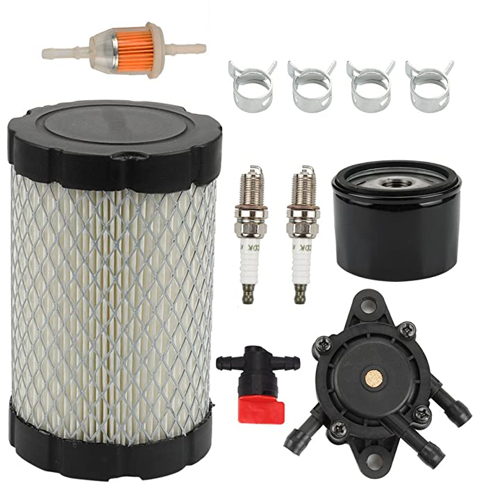 Butom MIU14395 Air Filter with Fuel Pump Fuel Filter for John Deere D100 D105 D110 D130 D140 D160 D170 D125 L105 L107 LA135 Lawn Mower Tractor Briggs & Stratton 796031 591334 594201