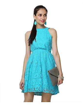 51d7d21b8 Yepme Eliza Lace Dress - Blue -- YPMDRES0095_XS: Amazon.in: Clothing ...