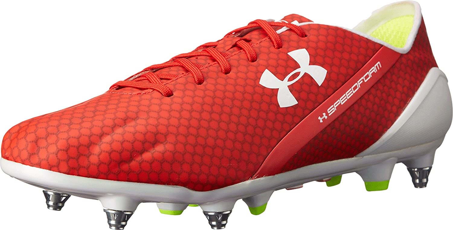 Under Armour Speedform CRM Hybrid SG Football Boots - Risk Red White High  Vis Yellow - Size 6.5  Amazon.co.uk  Shoes   Bags c818d0b4ac