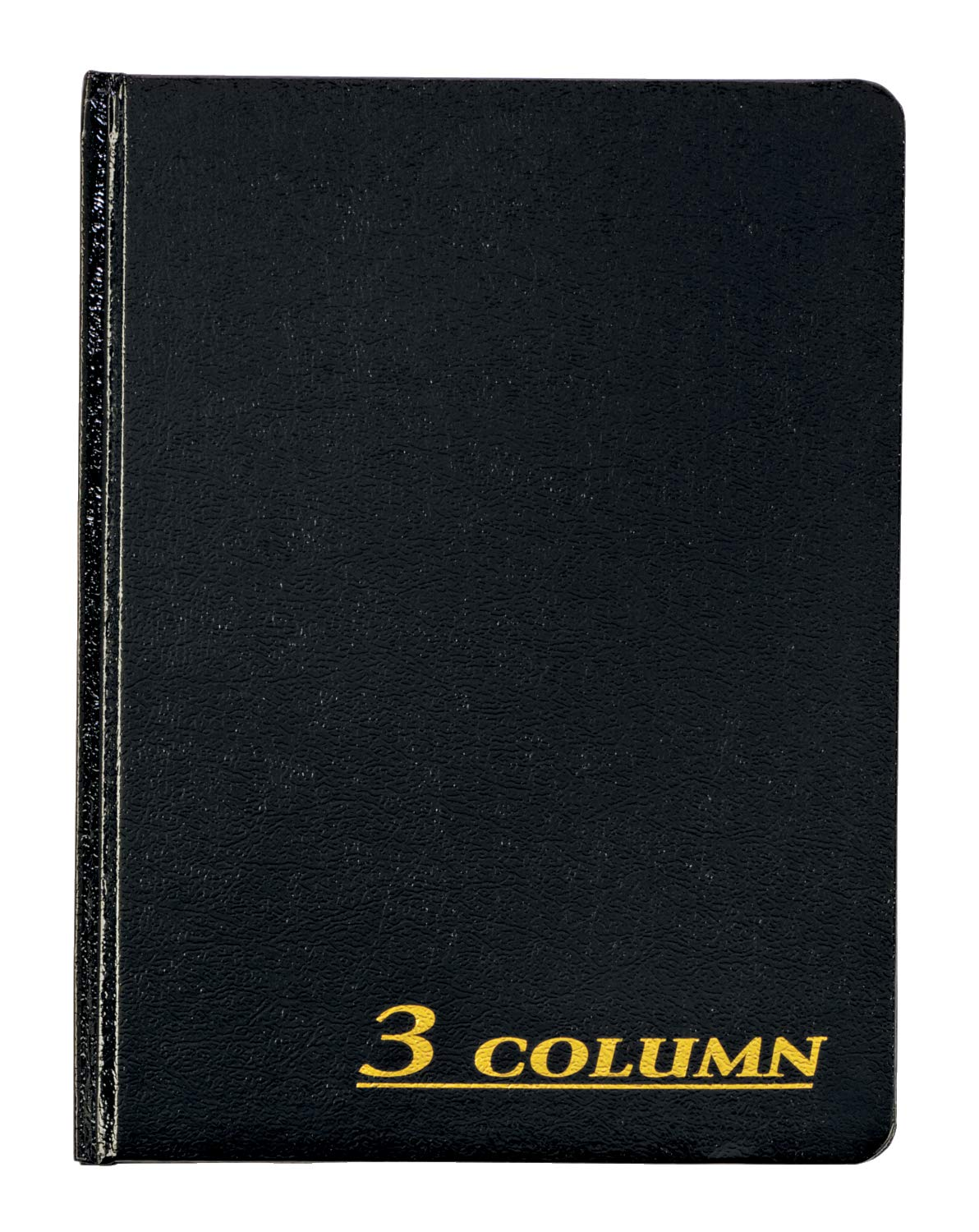 Adams Account Book, 7 x 9.25 Inches, Black, 3-Columns, 80 Pages (ARB8003M)