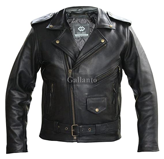 in man Naked leather jacket gay
