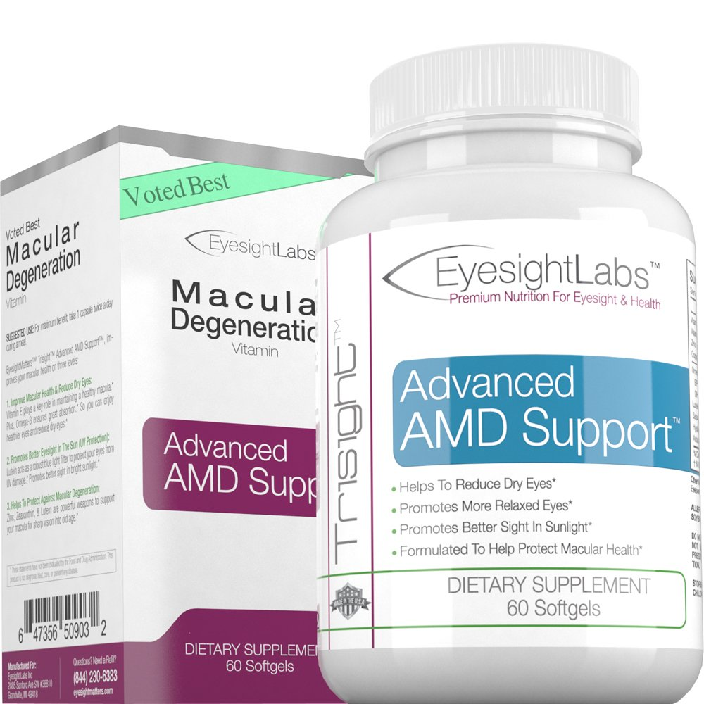 EyesightLabs® Macular Degeneration Eye Vitamins - AREDS 2 Vision Supplements to Avoid Vision Loss - Protect Your Macula from Damage - w Lutein, Zeaxanthin - Quality Bilberry Eye Vitamins by Eyesight Labs