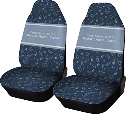 YouCustomizeIt Medical Doctor Car Seat Covers Set Of Two Personalized