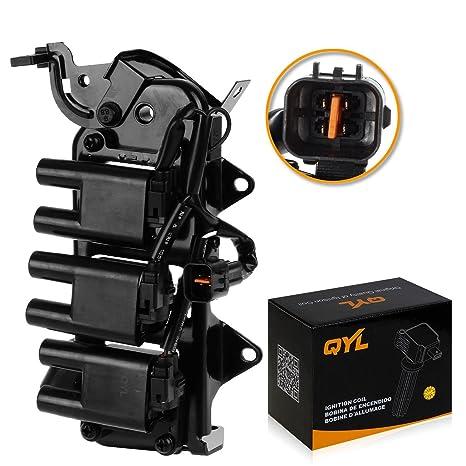 QYL Bobina de encendido pack para Hyundai Santa Fe V6 2.7L Compatible con C1352 uf