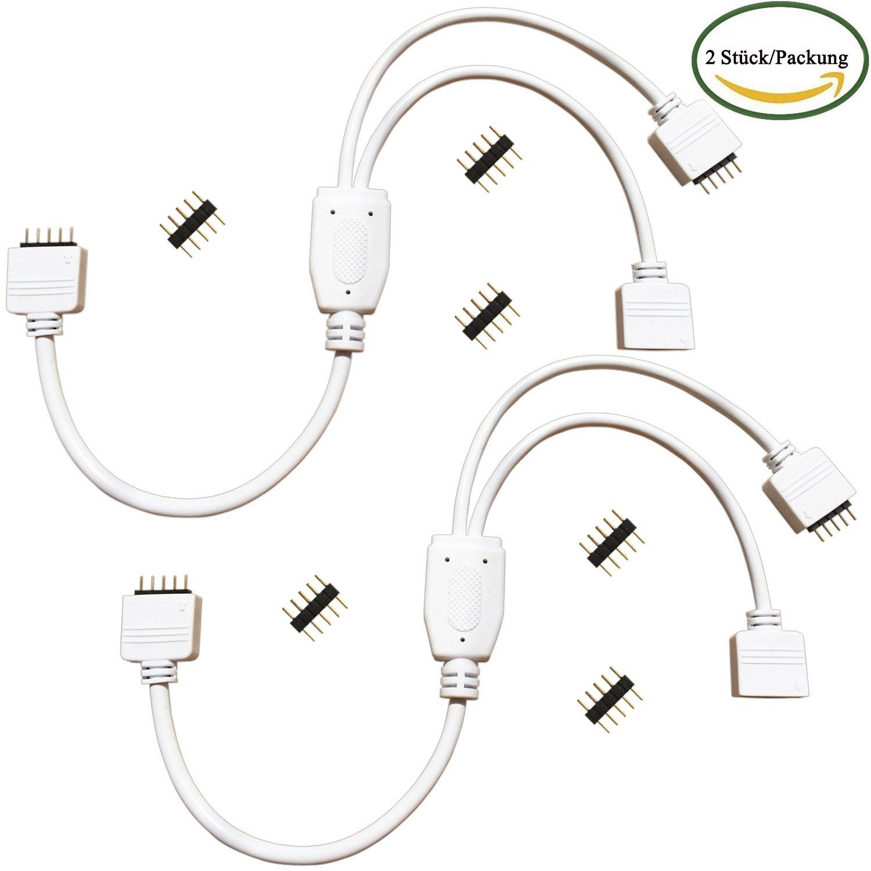 Kabenjee 2x 5 Pin RGBW LED Streifen Licht 1 zu 2 Y: Amazon.de ...