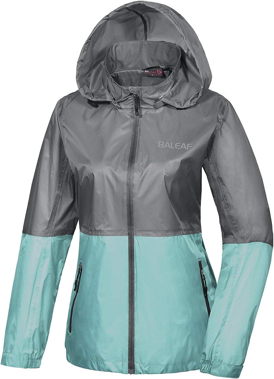 BALEAF Mens Waterproof Rain Jacket Lightweight Windbreaker Hooded for Hiking